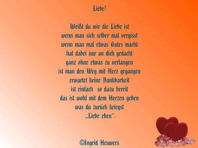 Gedicht ich wunsche dir liebe